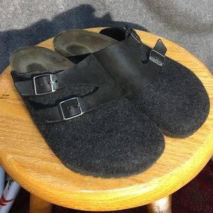Birkenstock Clogs - Wool Felt & Leather